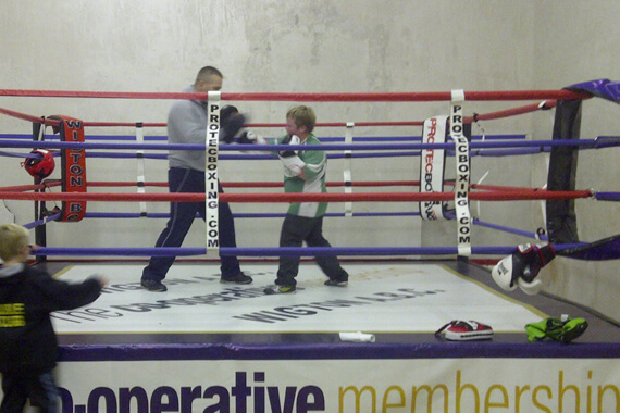boxing training in the ring